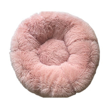 Load image into Gallery viewer, Round Dog Bed Washable Long Plush Dog Kennel Cat House Super Soft Cotton Mats Sofa for Dog Chihuahua Dog Basket Pet Bed