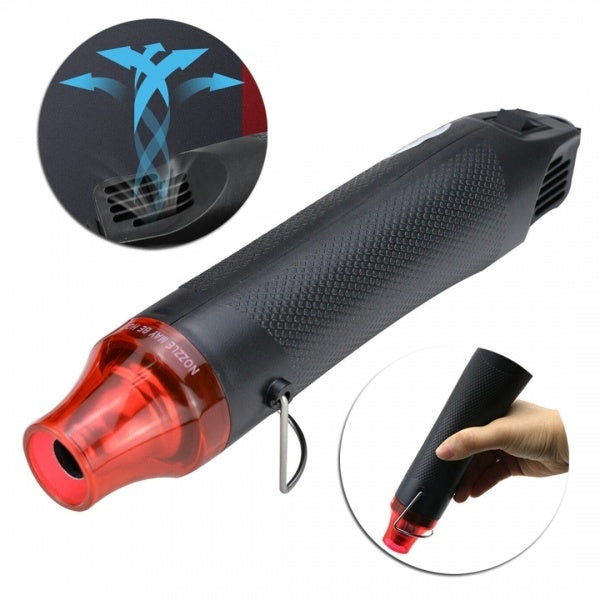 1pc New Black 300W Hot Air Tool Mini Hot Air Blower Embossing Heat Tool 220V Input