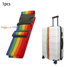 Load image into Gallery viewer, One Word Rainbow Luggage Belt Travel Luggage And Packing Belt Travel Luggage Bundled Belt