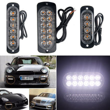 Load image into Gallery viewer, 2PC 4/6/8/12 Led Windshield Warning Light Car Strobe Flashing Lightbar Truck Beacons Emergency Signal Lamp