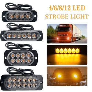 2PC 4/6/8/12 Led Windshield Warning Light Car Strobe Flashing Lightbar Truck Beacons Emergency Signal Lamp