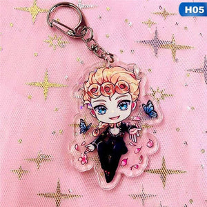 1Pc Anime Jojo'S Bizarre Adventure Acrylic Keychain Pendant Keyring Collection Gifts