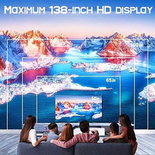 Load image into Gallery viewer, Home Theater HD 4K Android Projector Home Office Projector Wifi Bluetooth Connection Downloadable Software Game Watching Movie Mobile Phone Synchronization Screen