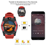 2019 New V8 Wireless Smart Watch Bluetooth Reminder Monitor Anti-lost Camera for  Android PK Apple Watch Samsung Watch Huawei Watch Y1 Watch DZ09 GT08 M26 A1 U8