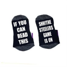Load image into Gallery viewer, If you can read this Socks Shh! the Steelers game is on Socks cotton comfortable Men Women ankle Socks with cute sayings