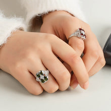 Load image into Gallery viewer, Fashion 925 Silver Diamond Square Emerald Wedding Ball Jewelry