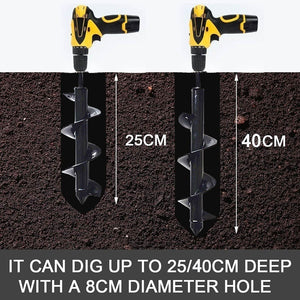 250/400*90mm Earth Auger Garden Planting Machine Drill Bit Fence Borer Post Post Hole Digger Garden Tool