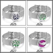 Load image into Gallery viewer, Tree of Life Aromatherapy Jewelry Diffuser Locket Bracelet Perfume Stainless Steel Bracelets Wristband Jewelry