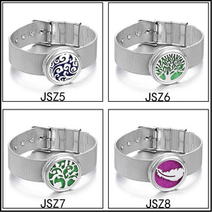 Tree of Life Aromatherapy Jewelry Diffuser Locket Bracelet Perfume Stainless Steel Bracelets Wristband Jewelry