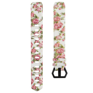 Flower Print Watch Band Strap for Fitbit Alta/Alta HR / Fitbit Ace Wristband Bracelet
