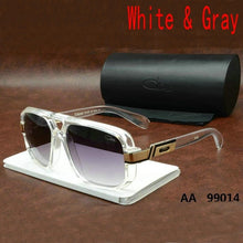 Load image into Gallery viewer, KAPELUS Classic Cool Sunglasses German Fashion High-grade Multi-color  Top AA Quality Glasses Men Sunglasses Containing Original Glasses Case (color : Balck,white,black- White,white-gray)
