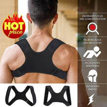 Load image into Gallery viewer, Posture Corrector Clavicle Fracture Support Back Shoulder Straighten Brace Belt