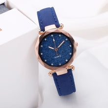 Load image into Gallery viewer, Casual Women Starry Sky Wrist Watch Leather Rhinestone Ladies Clock Simple Dress Gfit Montre Femme