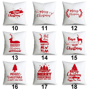 Navidad Pillowcases Christmas Pillow Covers 45x45cm Cushion Cover Soft Microfiber Sofa Home Decor (HD Double-Sided Printing