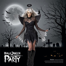 Load image into Gallery viewer, Black Sexy Halloween Dark Angel Costume Appealing Uniform Game Zombie Costume Female Ghost Bride Devil Wear