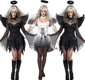 Black Sexy Halloween Dark Angel Costume Appealing Uniform Game Zombie Costume Female Ghost Bride Devil Wear