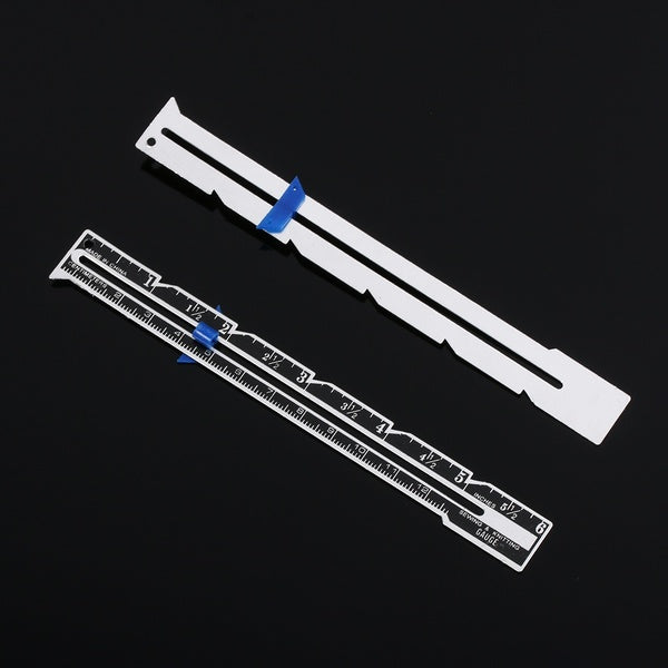 1pc New Aluminum Plastic Sewing Seam Ruler Cloth Patchwork Quilting Tailor Ruler Measuring Gauge Sewing Accessories