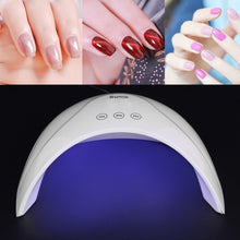 Load image into Gallery viewer, 36W/24/6 LED/UV Lamp Nail Polish Dryer 3 Gear Timing Smart Induction Nail Lamp