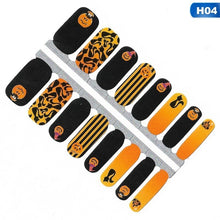 Load image into Gallery viewer, 1X Halloween Series Christmas Styles Nail Sticker Decals Wraps Full Cover Patches Diy Self Adhesive Nail Stickers