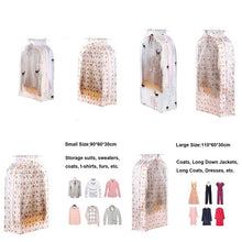 Load image into Gallery viewer, Large Clothing Cover Bag PEVA Cloth Protector Wardrobe Hanging Storage Bag Dust Protector Cover with Zipper Ideal for Dresses and Longer Clothes