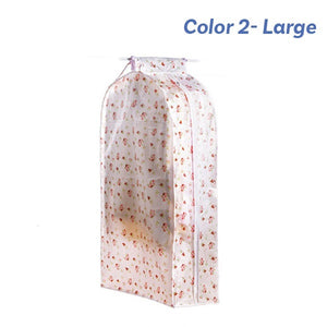 Large Clothing Cover Bag PEVA Cloth Protector Wardrobe Hanging Storage Bag Dust Protector Cover with Zipper Ideal for Dresses and Longer Clothes