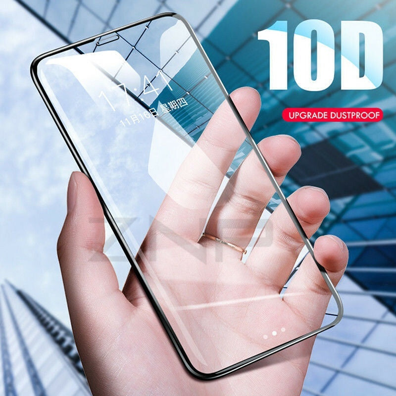 1/3pcs Full Cover Real Tempered Glass Screen Protector for IPhone6/7/8/6p/7p/8p X XS MAX XR 10D