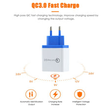 Load image into Gallery viewer, 2019 New 4 Port Wall EU US Plug Mobile Phone USB Charger Adapter QC 3.0 Quick Charge