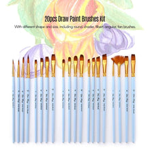 Load image into Gallery viewer, 20/11/10PCS Paint Brushes Set Kit Acrylic Oil Watercolors Artist Paintbrush Nylon Hair