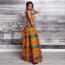 Load image into Gallery viewer, 2019 New Fashion Long Robe Africa Traditional Clothing Geometric Print Elastic Maxi Dresses for Women Party Dress
