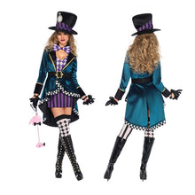 Load image into Gallery viewer, 2019 Halloween Cosplay Hatter DS Costume for Women Adult Magic Girls Cosplay Halloween Magician Costumes Outfits Clubwear Stage Performance Clothing Animal Trainer Acrobatics Dress