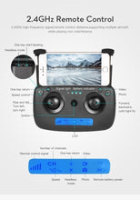 Load image into Gallery viewer, 2020 Newest SG901 Rc Drone Quadcopter UAV 4K HD FPV 120¡ã Wide-angle Dual Camera + Optical Flow Positioning + V-Sign + Gesture Video + Real-time Transmission + Smart Follow + Long-term Flight + Gravity Sensing Travel Shooting App Control Long Battery Life