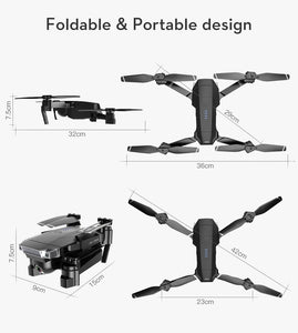 2020 Newest SG901 Rc Drone Quadcopter UAV 4K HD FPV 120¡ã Wide-angle Dual Camera + Optical Flow Positioning + V-Sign + Gesture Video + Real-time Transmission + Smart Follow + Long-term Flight + Gravity Sensing Travel Shooting App Control Long Battery Life