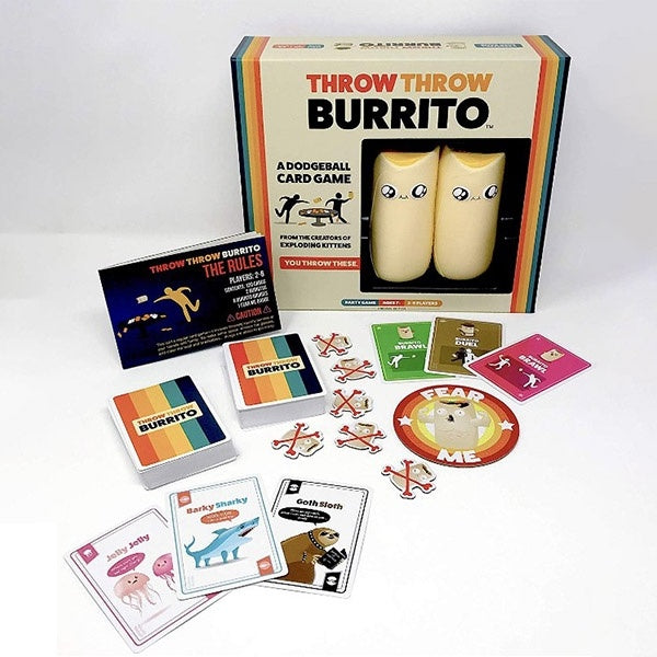 Throw Burrito Card Game by Exploding Kittens Kickstarter Game Core Ed