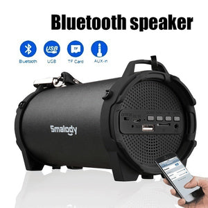 Subwoofer Handsfree Wireless Bluetooth Portable Speaker Surround Sound Stereo Outdoor USB/ AUX/ TF Card for Phone PC
