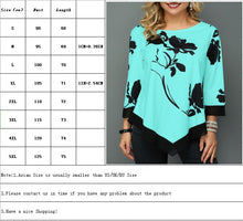 Load image into Gallery viewer, 3 Colors Women's Autumn Floral Printed Long Sleeve T Shirt Ladies Casual Tops Plus Size S-XXXXXL