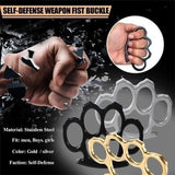 1/2Pcs  Brass Knuckles Tactical Survival Multi-Functional Self Defense  Duster Tool With Out Rope