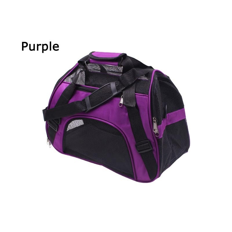 Pets Bag Portable Cat Backpack Dog Outdoor Carrier Bag Single Shoulder Pet Travel Bag Folding Pack Breathable Mesh Handbag