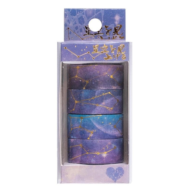Starry Sky Cherry Blossoms Washi Tape Adhesive Tape DIY Scrapbooking Sticker FLO