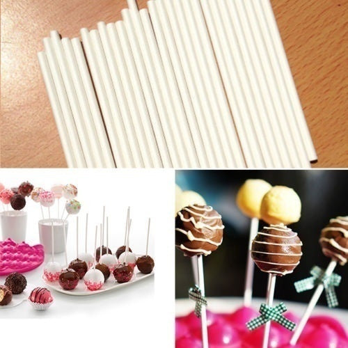 80/50 pcs Pop Food Sucker Sticks Chocolate Cake Lollipop Sweet Candy Making hw7