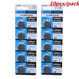 10Pcs Cr2032 3V Button Coin Cell Batteries For Watch Remote Toy Calculator Batteries