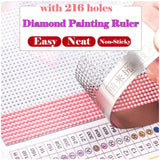 Diamond Painting Drawing Ruler Diamond Embroidery Mesh Ruler Stainless Steel Ruler Tool