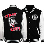 stray cats Printed Female Hoodie Jacket XXS-4XL