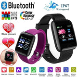 1.3inch Color Screen Smart Bracelet IP67 Waterproof Sport Smart Watch Heart Rate Blood Pressure Sleep Fitness Wristband Pedometer Call SMS Sedenetary Reminder Activity Tracker Smartband for IOS Android