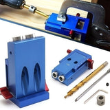 Pocket Hole Jig Kit System Wood Working Joinery Tool Set w/ Step Drill Bit