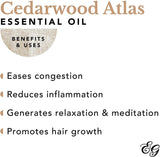 10ML Cedarwood Atlas 100% Pure Therapeutic Grade Essential Oil by Edens Garden