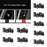 4pcs/set Car Tire Valve Stem Caps Chrome Plated Auto Tire Air Caps Covers Bullet Valve Pressure Tires Caps fit for VW Benz Audi BMW Ford Toyota Nissan Mazda Dodge Kia Land Rover Infiniti etc