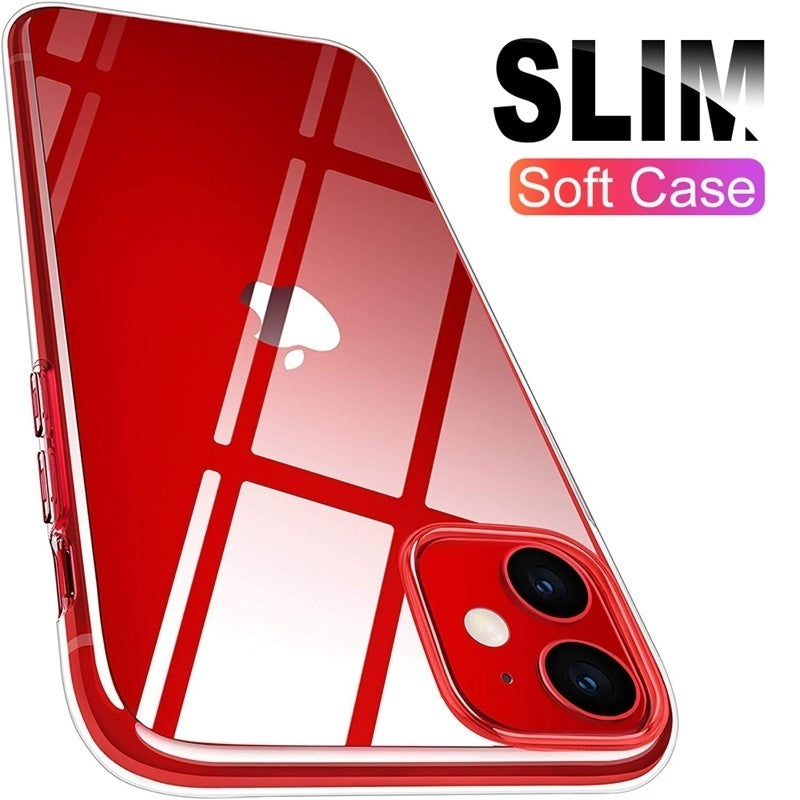 For iPhone 11Pro Max 11Pro 11 XsMax Luxury Transparent Soft TPU Shockproof Case For Samsung Note10Pro Note10 S20Plus S20 Ultra S10Plus S10e S10 S9Plus S8Plus For Huawei P30Pro P30Lite P30 Mate20Pro Mate20Lite Back Cover