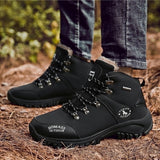 Snow Boots for Men Thin/Thick Hiking Boots Men's Winter Warm Waterproof Boots Outdoor Sports Plus Size
