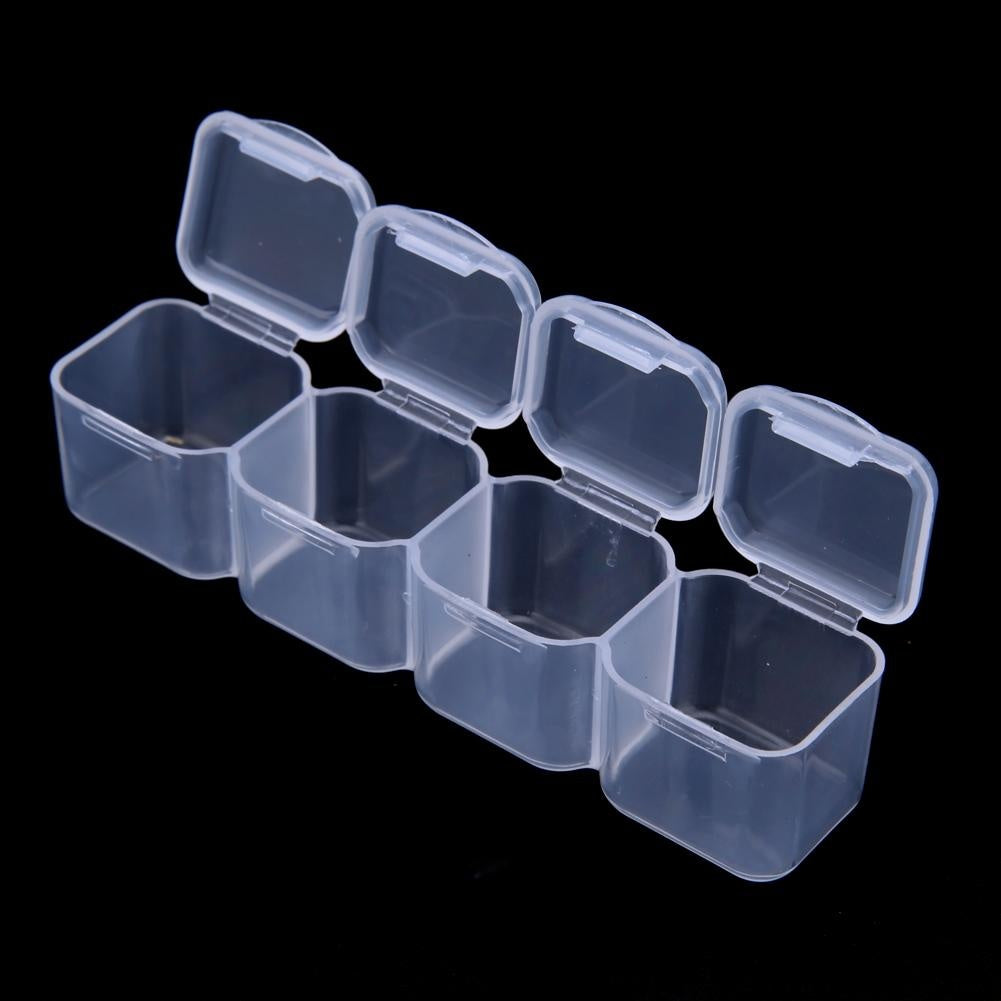 Diamond Painting Storage Box Plastic Rhinestone Holder Bead Storage Container Transparent Storage Box (24/28/42/64 Slots)