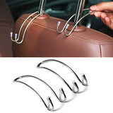 1 PC Multi-functional Car Seat Back Hooks Auto Shrink Headrest Hanger For Handbag Coat Storage Hanger Hook Organizer